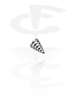 Balls & Replacement Ends, Micro Ribbed Cone, Surgical Steel 316L