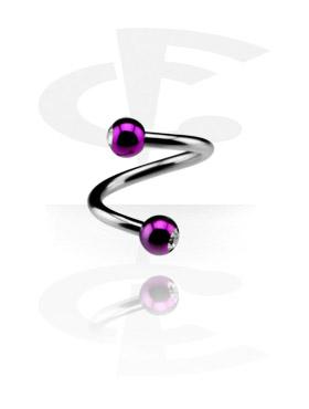 Micro Spirale avec Anodised Jeweled Balls
