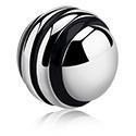 Pallot ja koristeet, Raidallinen pallo, Surgical Steel 316L