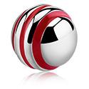 Bolas y Accesorios, Bola con rayas, Acero quirúrgico 316L