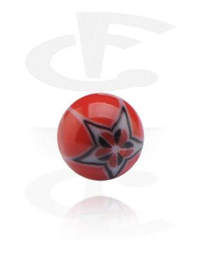 Balls & Replacement Ends, Threaded Ball – Flower, Acryl