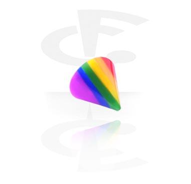 Boules et Accessoires, Micro Rainbow Cone, Acryl