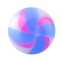 Balls & Replacement Ends, Threaded Ball – Twisted Flower, Acryl
