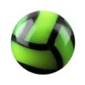"""Boules et Accessoires, Boule """"Balle de volley-ball"""", Acryl"""