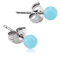 Earrings, Studs & Shields, Ear Studs, Surgical Steel 316L, Acrylic