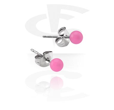 Earrings, Studs & Shields, Ear Studs, Surgical Steel 316L, Acrylic