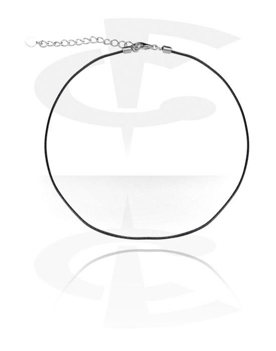 Halsketten, Modische Halskette, Kunstleder, Chirurgenstahl 316L