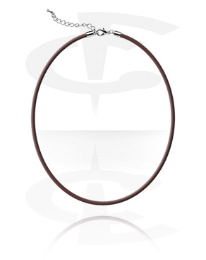 Necklaces, Rubber Choker with Chain
