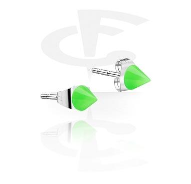 Naušnice, Ear Studs, Acrylic