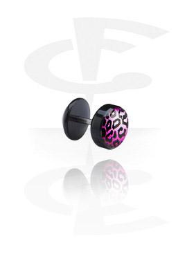 Imitacja biżuterii do piercingu, New Picture Fake Plug, Acrylic