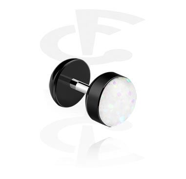 Fake Piercings, Fake plug, Surgical Steel 316L, Acrylic