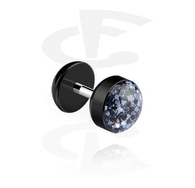 Imitacja biżuterii do piercingu, Fake plug, Surgical Steel 316L, Acrylic