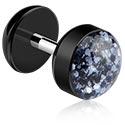 Falešné piercingové šperky, Fake plug, Surgical Steel 316L, Acrylic