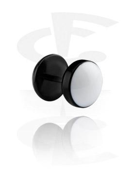 Fake Piercings, Enameled Fake Plug, Acryl