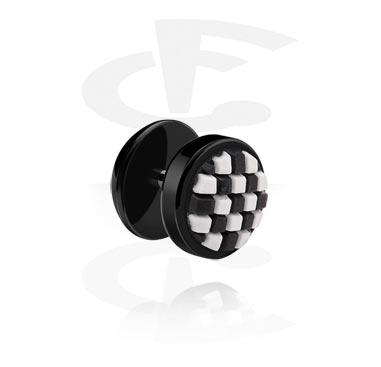 Fake Piercing, Fake plug con accessorio in silicone, Acrilico