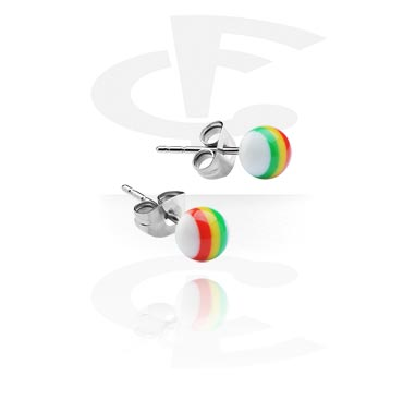 New Rasta Ball Stud