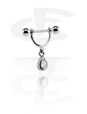 Nännikorut, Nipple Stirrup med Charm, Kirurgisk stål 316L