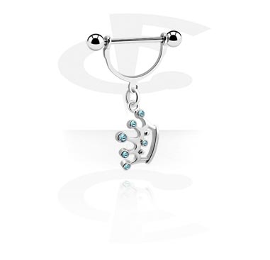Piercingové šperky do bradavky, Nipple Shield with Charm, Surgical Steel 316L