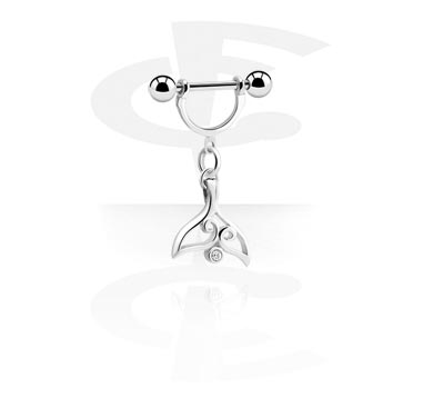Piercing du téton avec pendentif