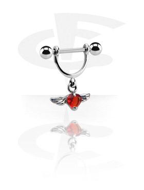 Biżuteria do piercingu sutków, Nipple Shield, Surgical Steel 316L, Plated Brass