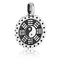 Pendants, Pendant with Yin-Yang Design, Pewter