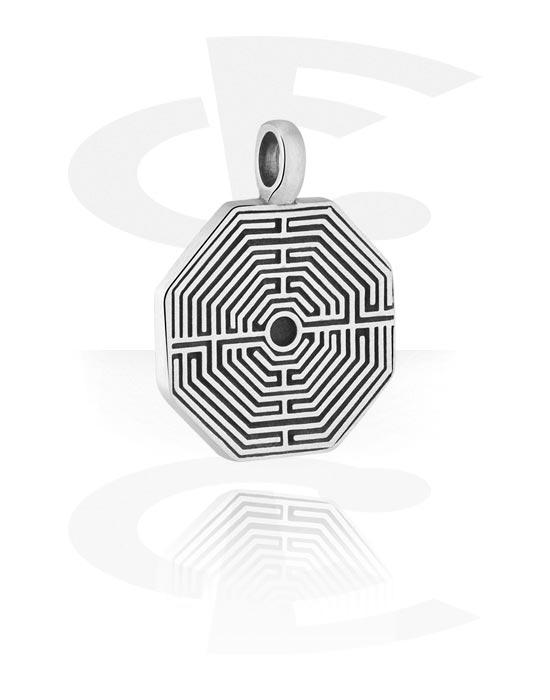 Přívěsky, Pendant s Labyrinth Design, Cín