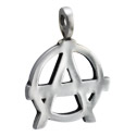 Pendants, Pendant with Anarchy Design, Pewter