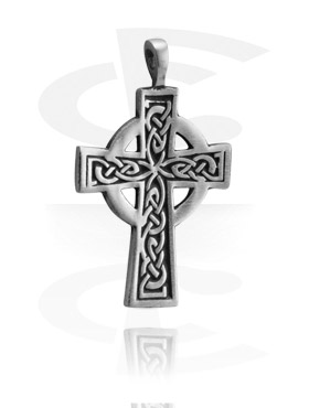 "Pendants, Pendant ""Cross"", Pewter"