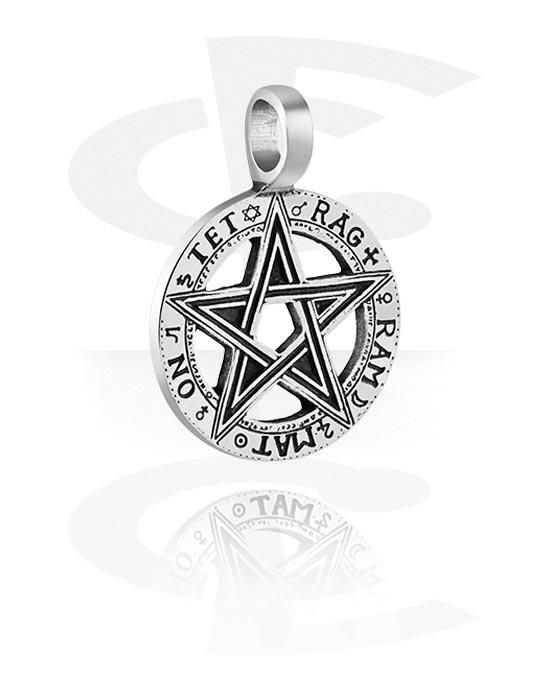 """Přívěsky, Pendant """"Pentagram"""", Cín"""