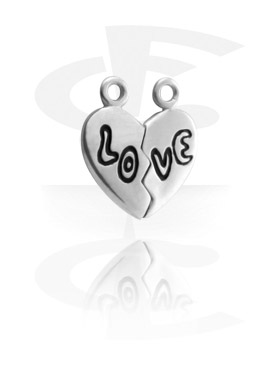 Pendants, Love Heart Pendant, Pewter