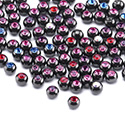 Super Sale Packs, Super sale pack accessori neri per barrette da 1,2 mm, Acciaio chirurgico 316L nero