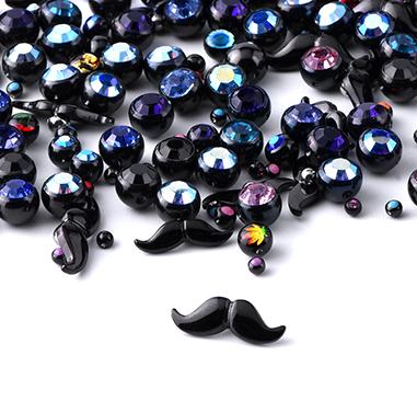 Super Sale Bundles, Super Sale Bundle Black Attachments for Ball Closure Rings, Black Surgical Steel 316L