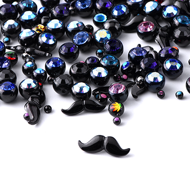 Super Sale Packs, Super Sale bundle accesorios negros  para ball closure rings, Acero quirúrgico negro 316L