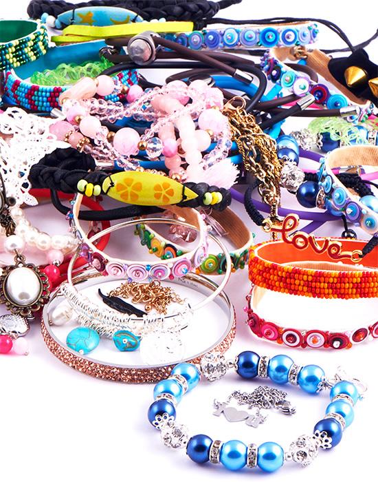 Super akční balíčky, Super Sale Bundle Bracelets, Pokovená mosaz, Bavlna, Kůže, Imitace kůže
