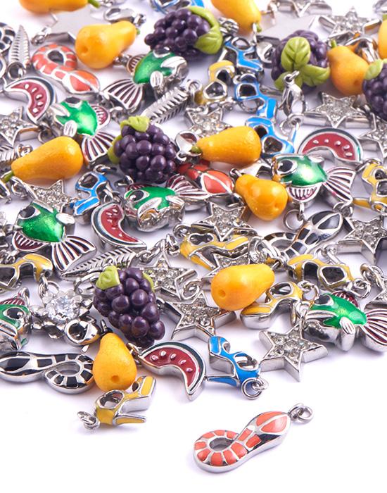 Super akční balíčky, Super Sale Bundle Charms for Bracelet, Pokovená mosaz