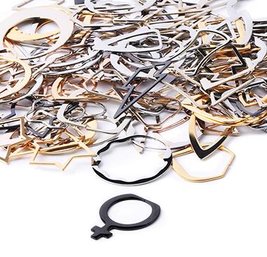 Super Sale Packs, Super sale pack pendenti per tunnel, Rosegold Plated Surgical Steel 316L, Acciaio chirurgico 316L con placcatura in oro