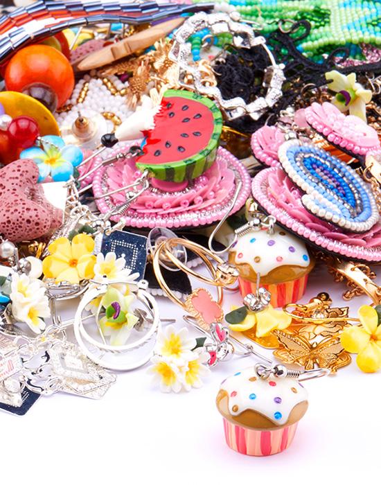 Super akční balíčky, Super Sale Bundle Earrings and Ear Studs, Pokovená mosaz, Akryl