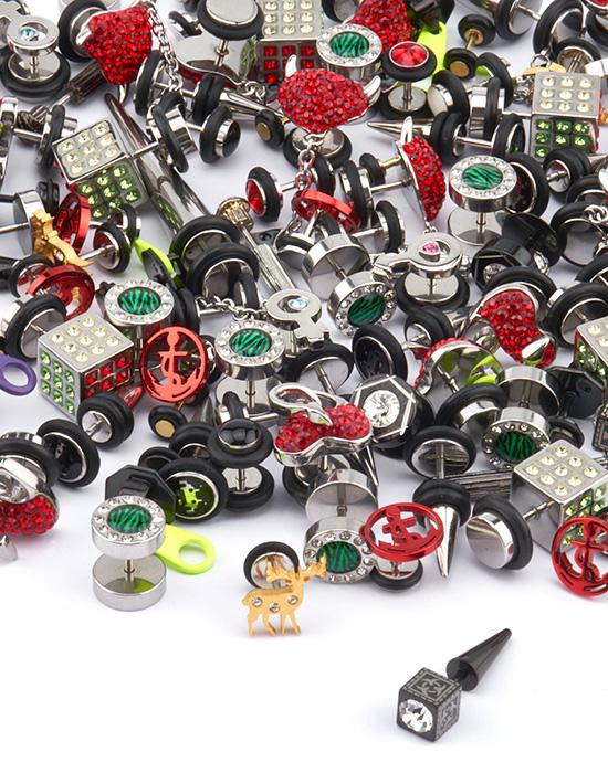 Super sale bundles, Super sale pack fake piercing, Acciaio chirurgico 316L