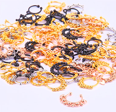 Super Sale Bundles, Super Sale Bundle Fake Septums, Gold Plated Surgical Steel 316L ,  Rosegold Plated Surgical Steel 316L