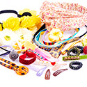Tukkupakkaukset, Super Sale Bundle Hair Accessories, Elastic Band, Fabric, Acrylic, Plated Steel