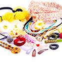 Super Sale Packs, Super sale pack accessori per capelli, Elastico, Stoffa, Acrilico, Acciaio rivestito