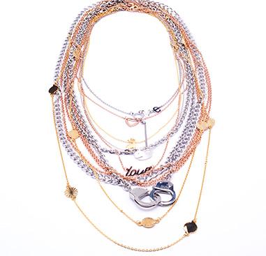 Super Sale Bundles, Super Sale Bundle Necklaces, Gold Plated Surgical Steel 316L ,  Rosegold Plated Surgical Steel 316L