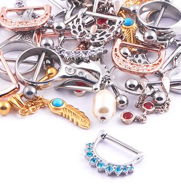Super Sale Bundles, Super Sale Bundle Nipple Piercings, Gold Plated Surgical Steel 316L ,  Rosegold Plated Surgical Steel 316L