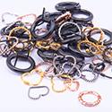 Super Lots Avantageux, Lots avantageux d'anneaux, Acier chirugical 316L plaqué or, Acier chirurgical 316L plaqué or rose, Acier chirurgical 316L