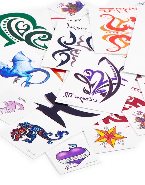 Super sale bundles, Super sale pack tatuaggi temporanei, Water transfer paper, Ink