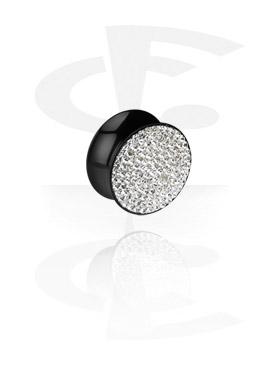Crystaline double flared-plugi