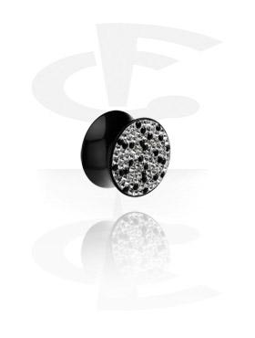 Tunele & plugi, Crystaline Flared Plug, Acryl