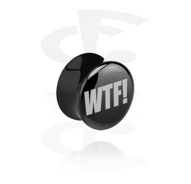 Tunnlar & Pluggar, Black Flared Plug, Acrylic