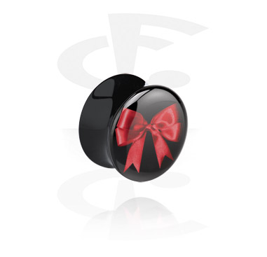 Tunely & plugy, Black Flared Plug, Acrylic