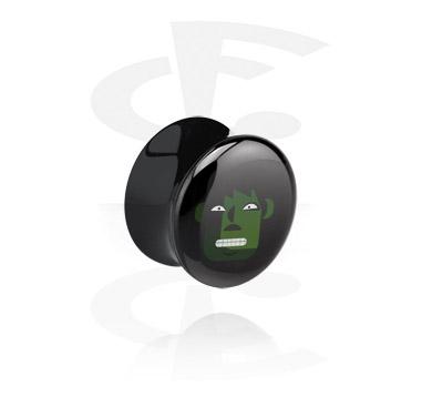Zwarte flared plug